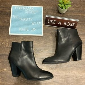 Adrienne Vittadini Black Heeled Boots size 7